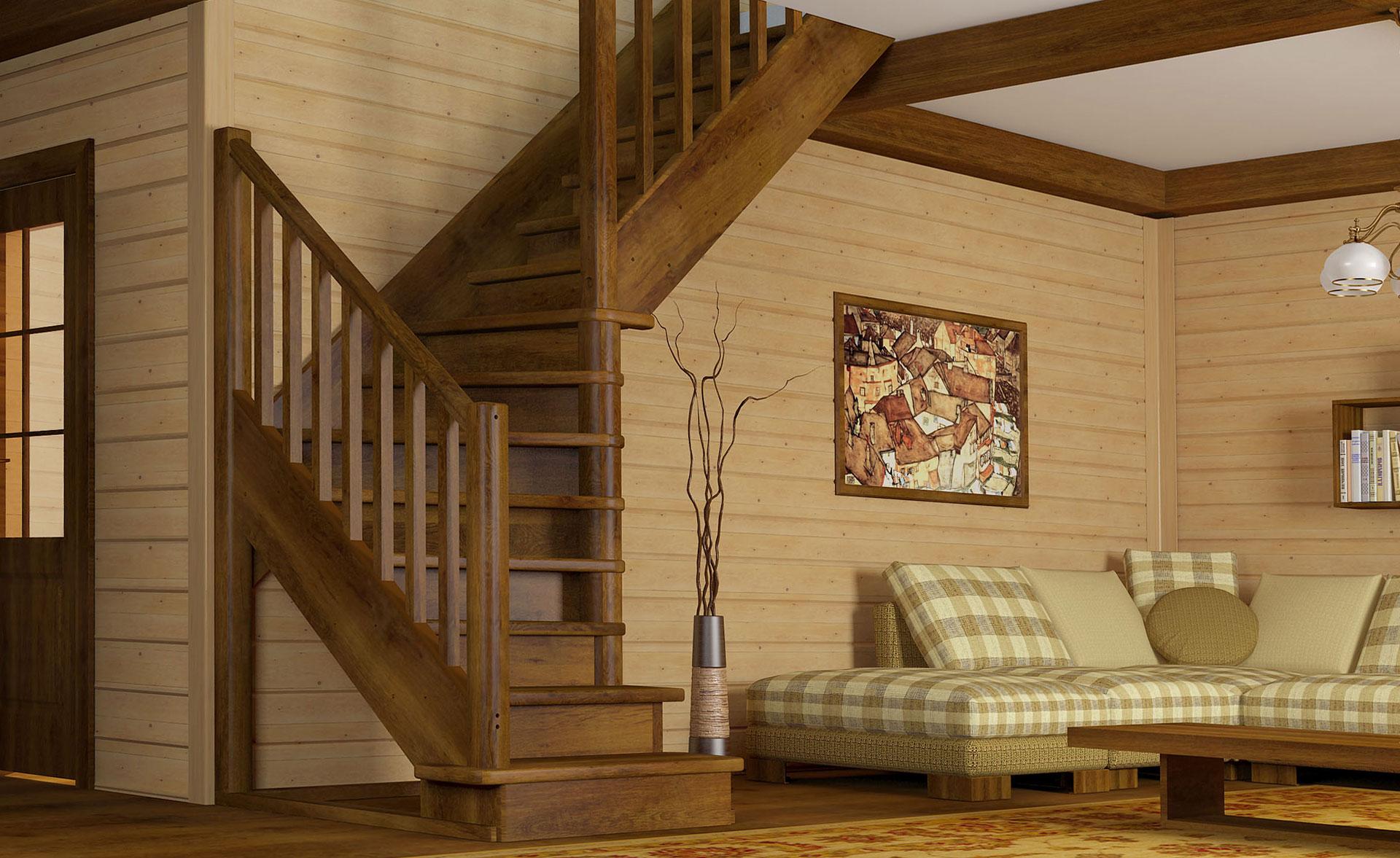 Лестница в дом из дерева PROFI&HOBBY™. Официальный представитель в Крыму
